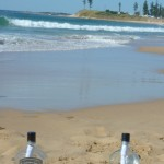Message in a bottle at Bulli Beach