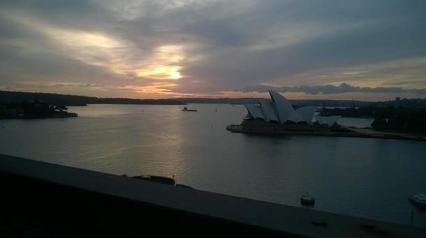 The view as we walked across Sydney Harbour Bridge