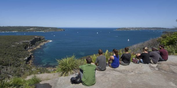Crater Cove on the Spit to Manly walk. Looking out the heads of Sydney Harbour.