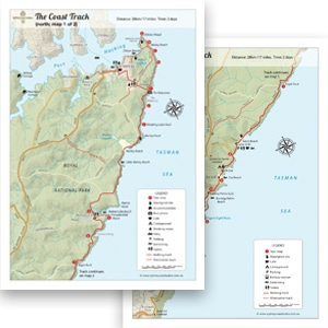 Royal National Park Coastal Walk Map Sydney Coast Walks