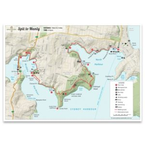 Spit Bridge to Manly Walk Map