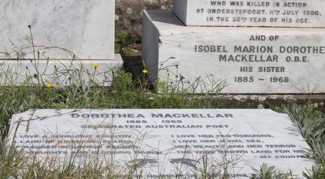 Dorothea Mackellar buried Waverley Cemetery