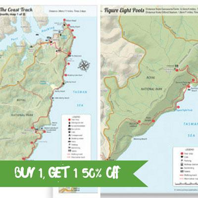 Royal National Park Maps Bundle Pack - Sydney Coast Walks on