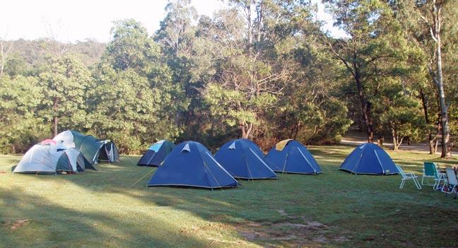 bush camping near Sydney